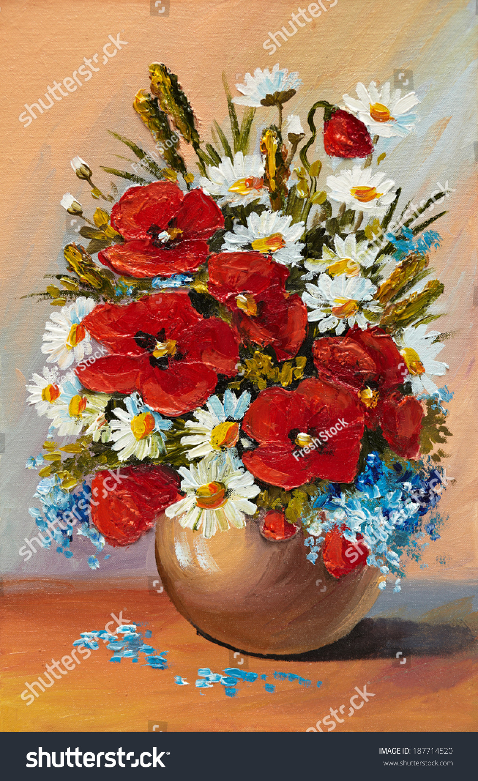 Oil painting spring flowers vase on stock illustration 187714520 oil painting of spring flowers in a vase on canvas abstract drawing floridaeventfo Images