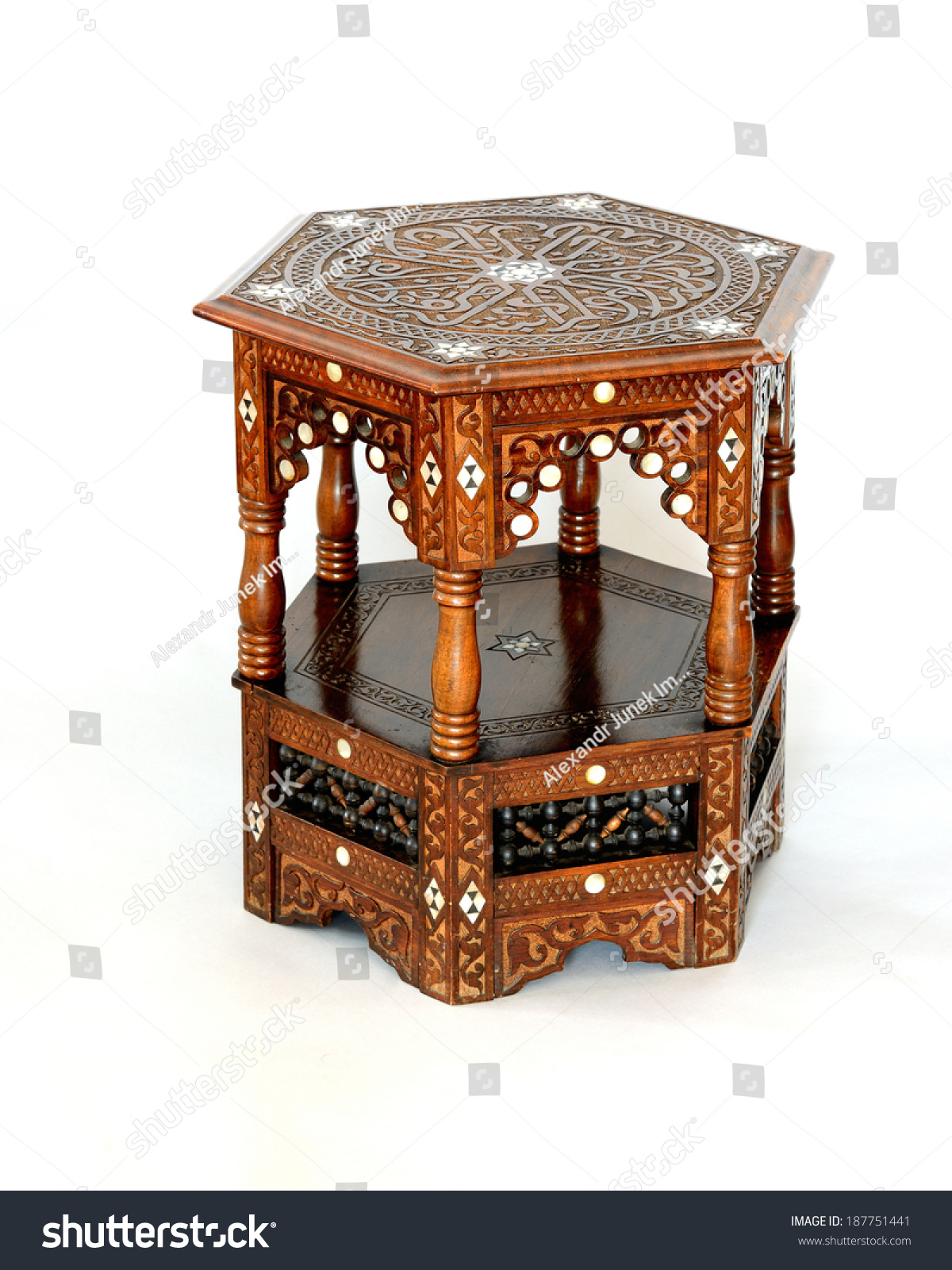 Syrian inlaid coffee table stock photo 187751441 shutterstock syrian inlaid coffee table geotapseo Choice Image