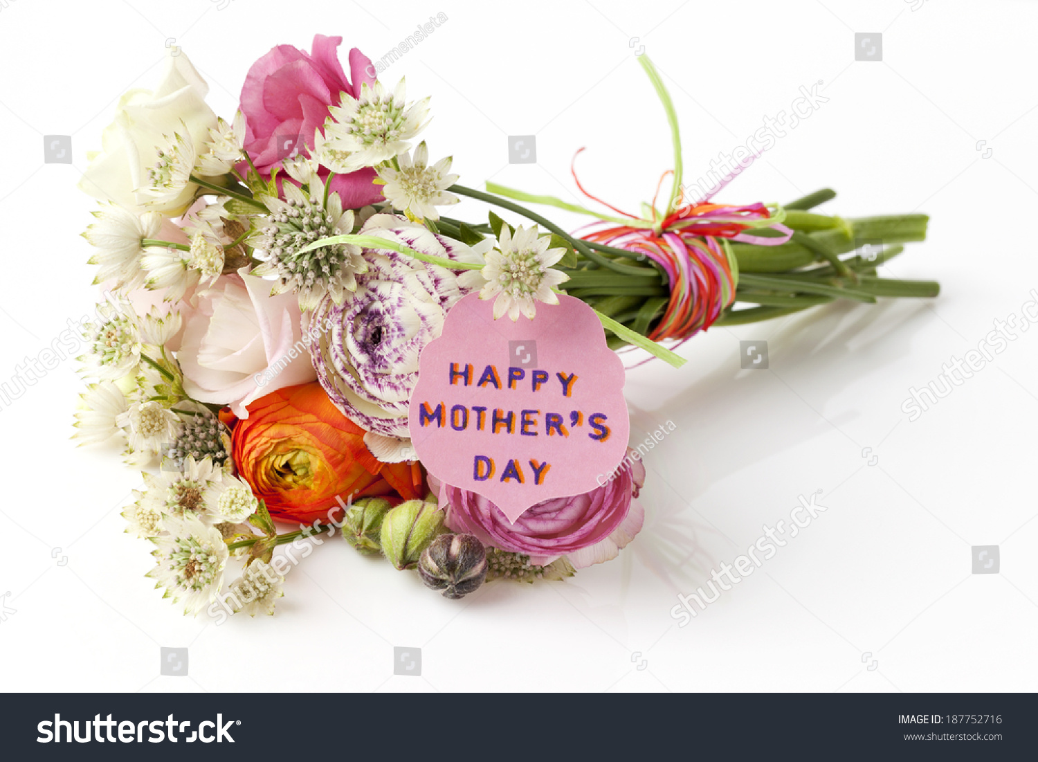 Beautiful Bouquet Spring Flowers Mothers Day Stock Photo (Edit Now ...