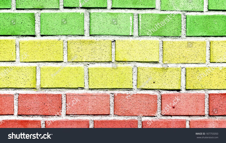 Brick Wall Rasta Colors Stock Photo (Edit Now) 187755050 - Shutterstock