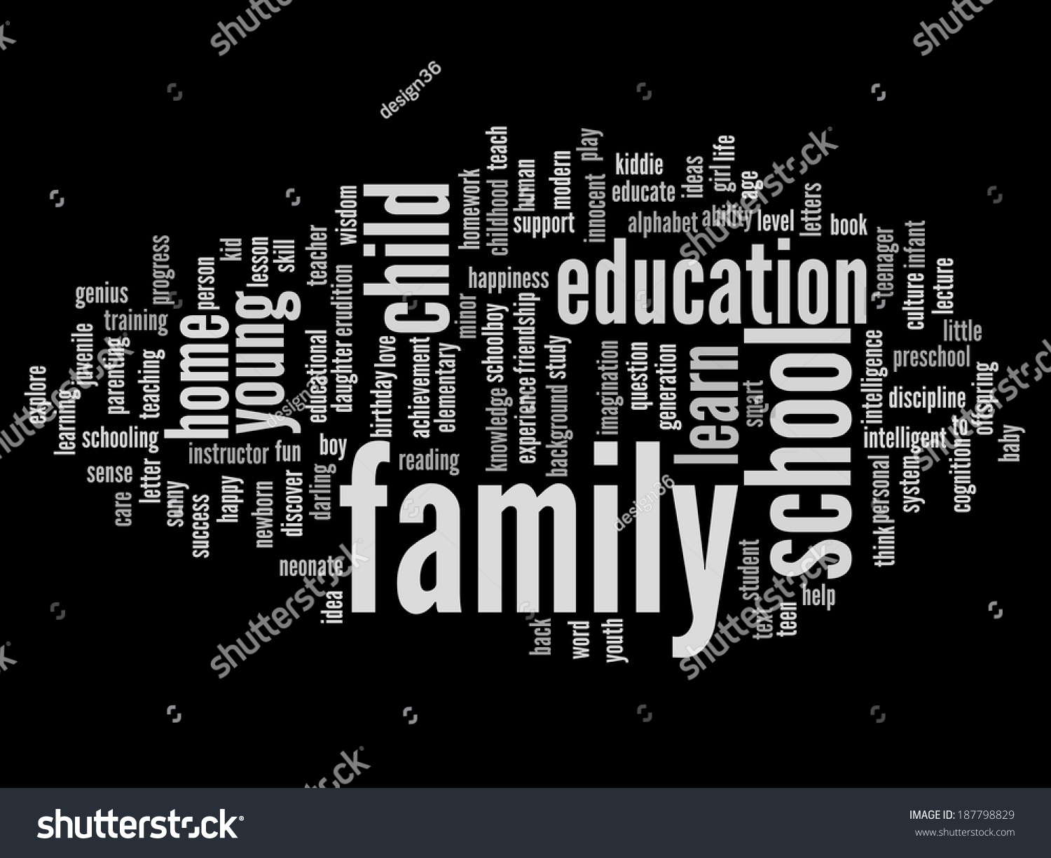Concept Conceptual Education Abstract Word Cloud Stock Illustration Books To Learn Electronics Conceptually On Learning About Or Black Background Metaphor Child Family