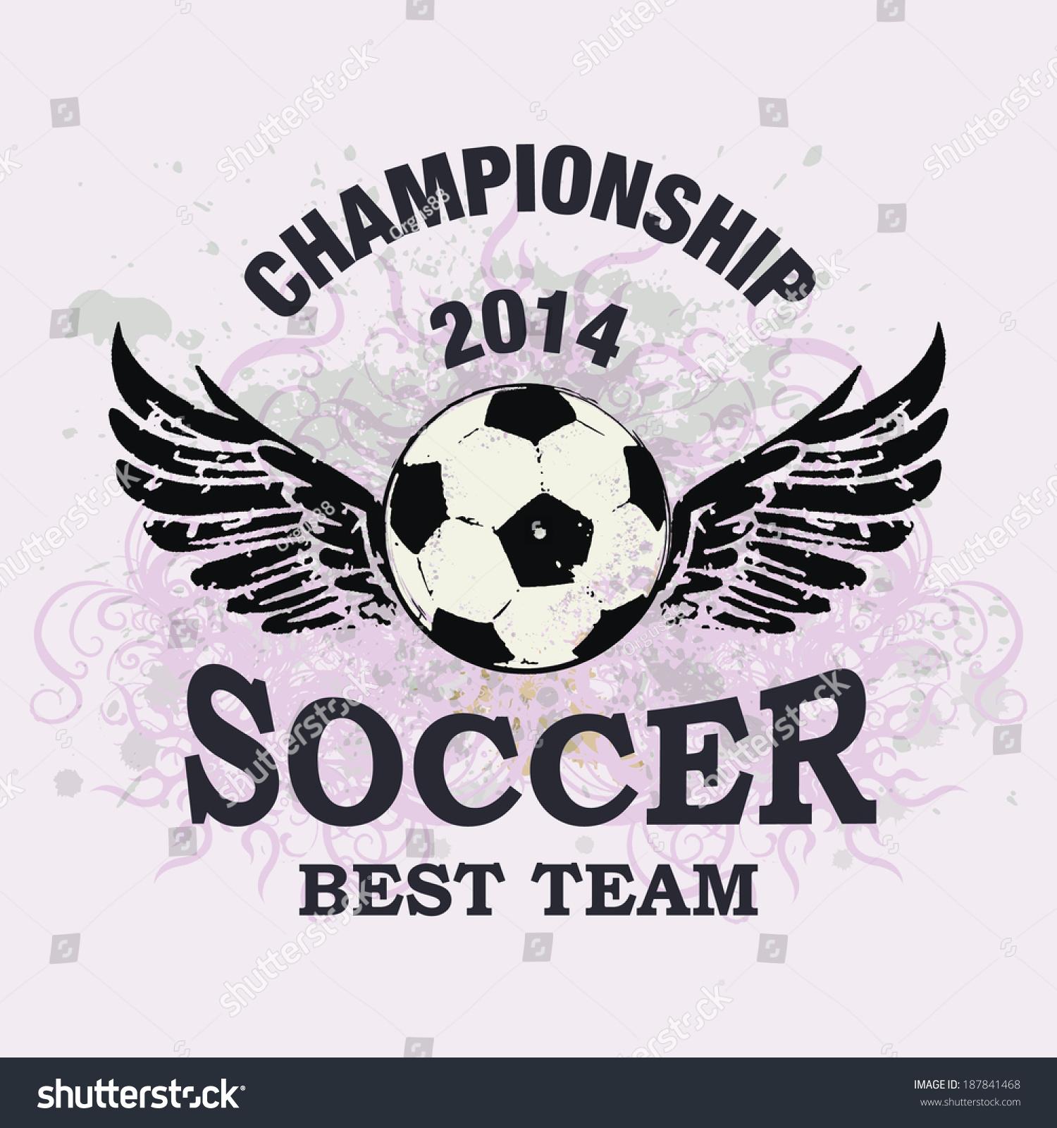 Design t shirt soccer - Vector Grunge Soccer Ball T Shirt Design Poster Banner Backdrops