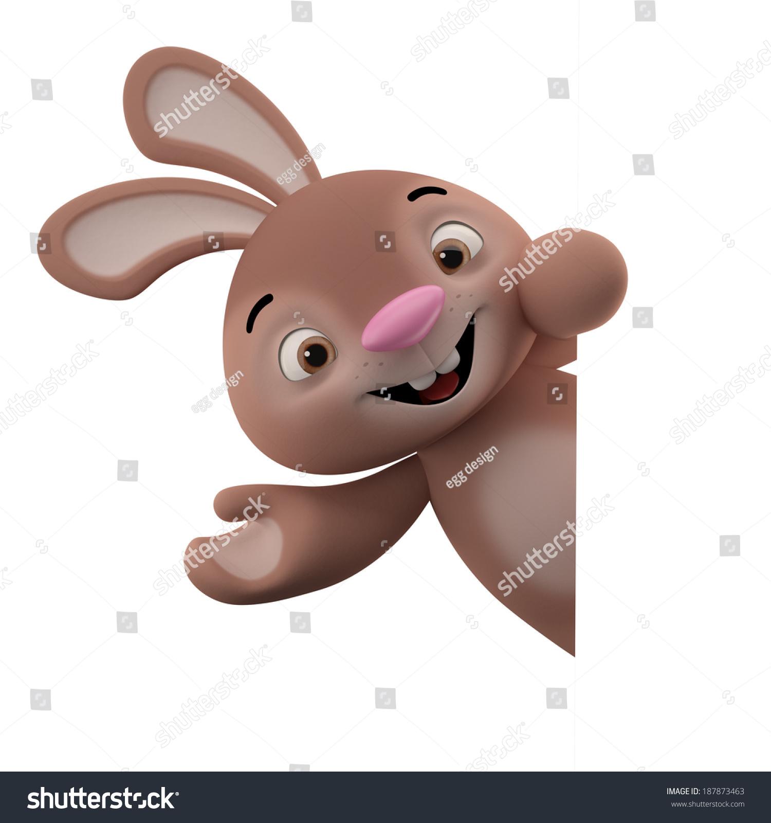 Amazing Cartoon: Amazing 3d Easter Bunny Merry Cartoon Stock Illustration