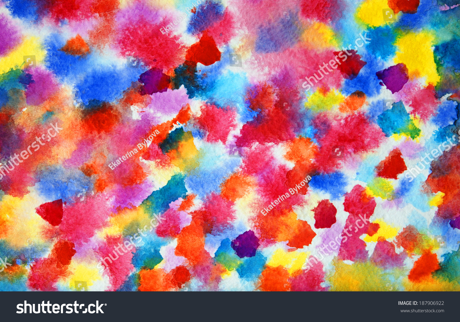 Abstract colorful watercolor painting horizontal for Silverleaf com