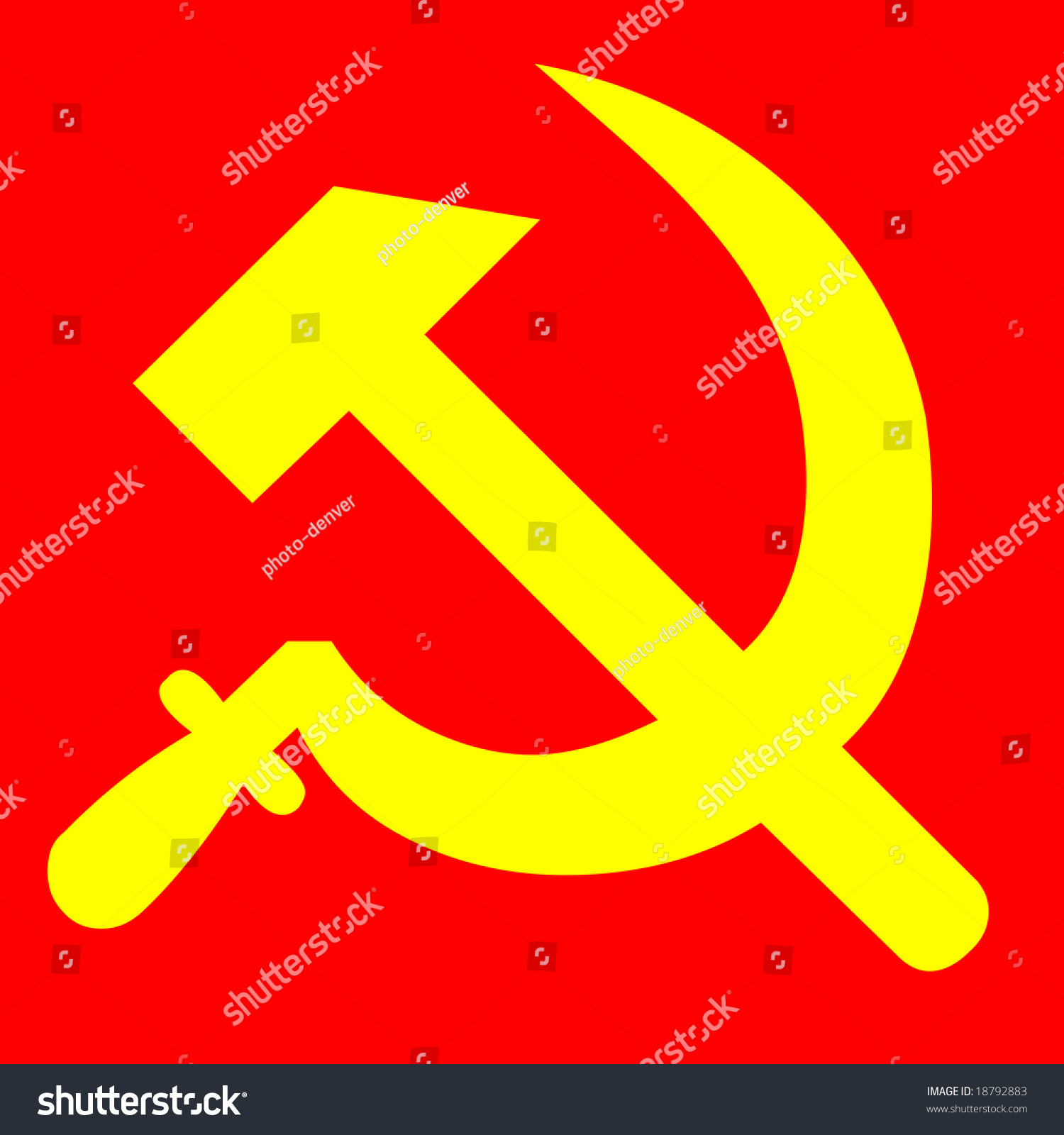 Communism symbol hammer sickle stock illustration 18792883 communism symbol hammer and sickle biocorpaavc Gallery