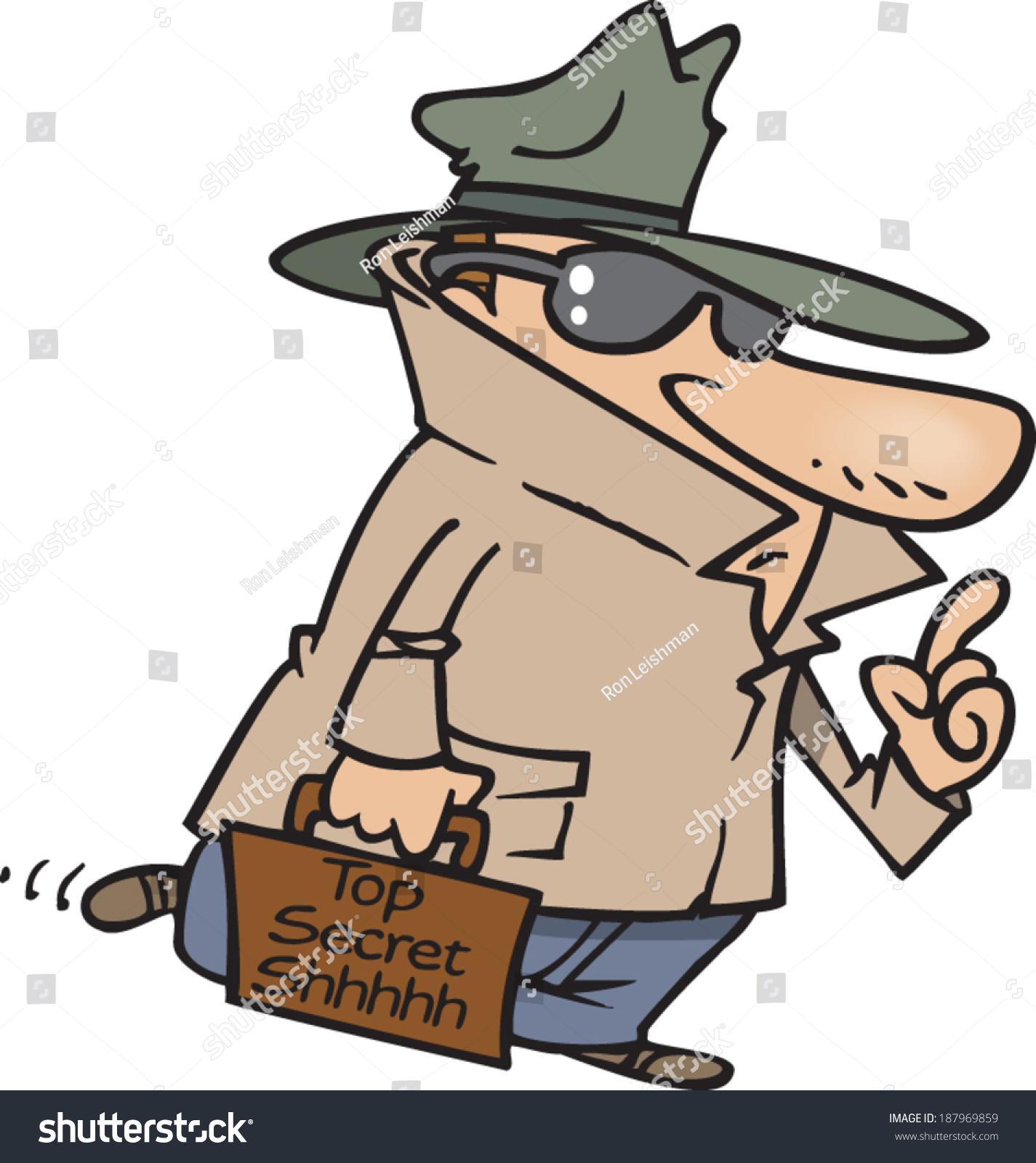 secretive cartoon man wearing trench coat stock vector secret agent clipart free female secret agent clipart