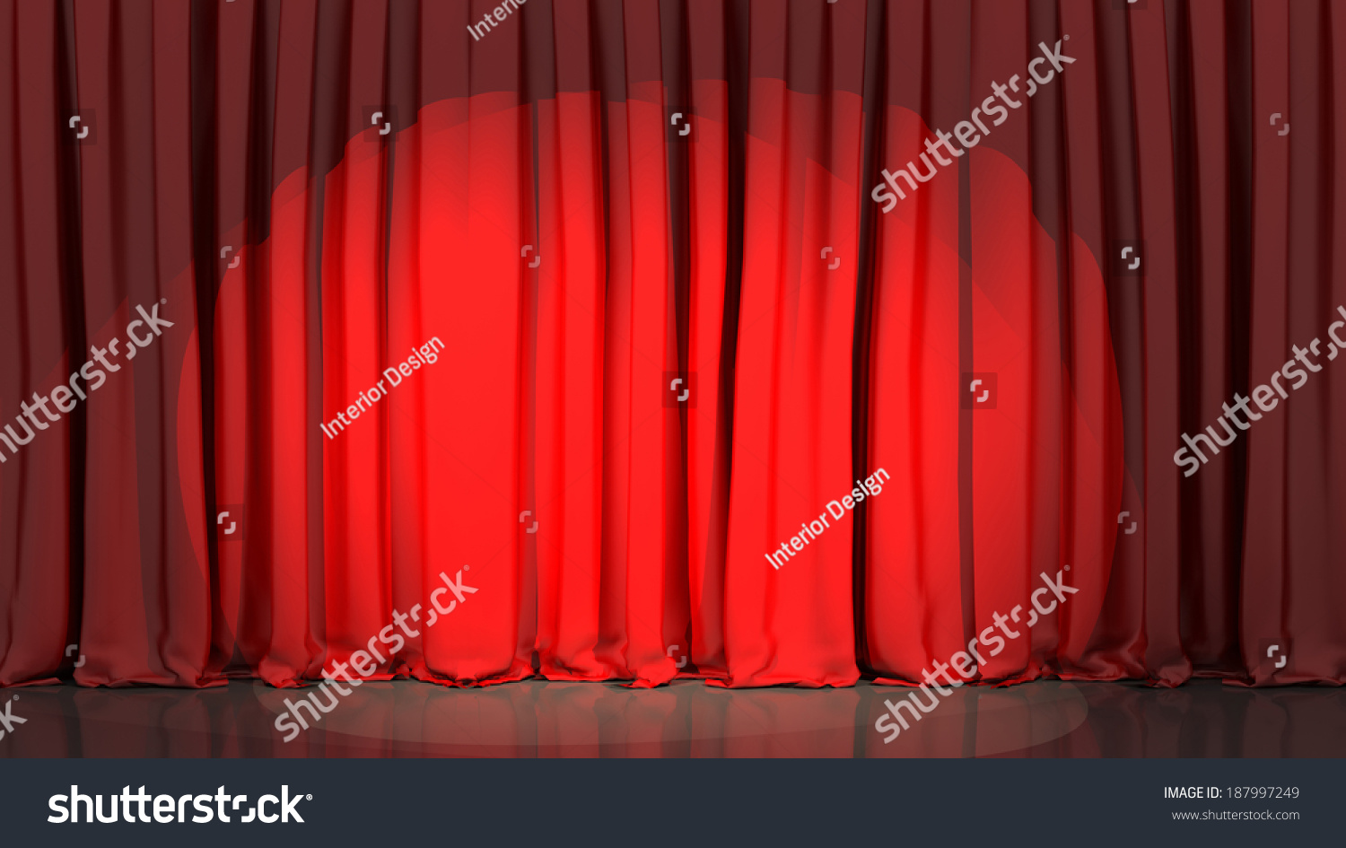Stage curtains spotlight - Spotlight On Stage Curtain