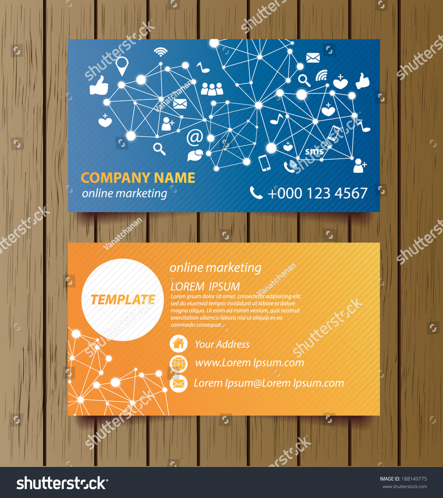 Business card template online marketing vector stock vector business card template for online marketing vector illustration colourmoves