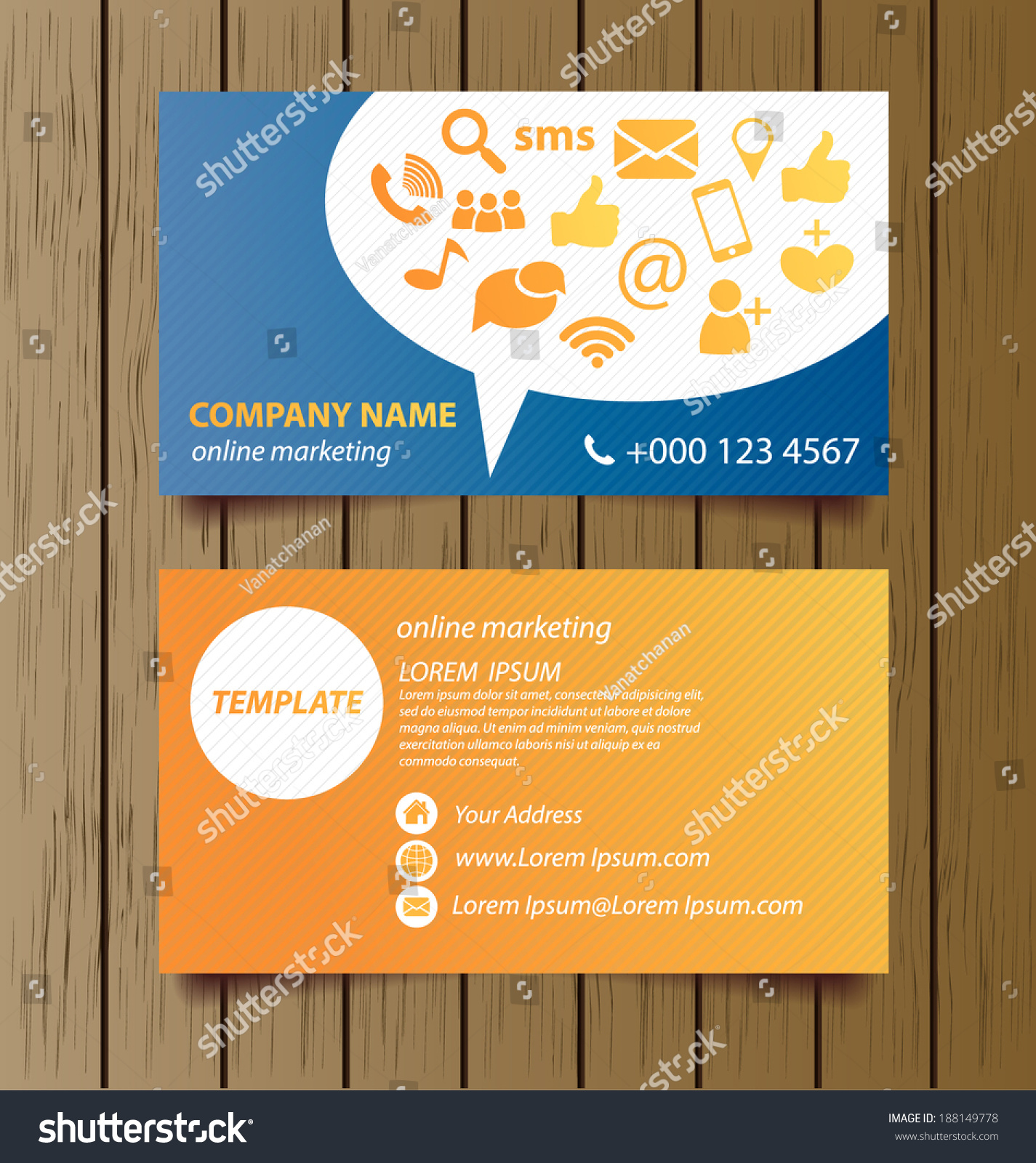 Business card template online marketing vector stock vector royalty business card template for online marketing vector illustration friedricerecipe Choice Image