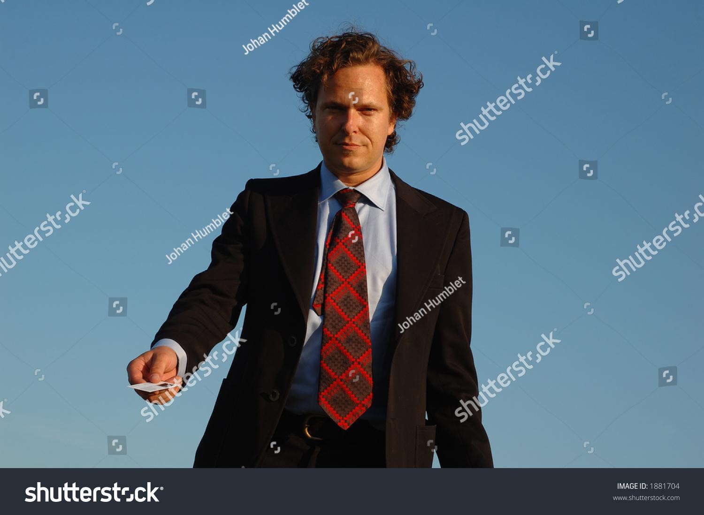 Good Looking Guy Black Suit Handing Stock Photo (Edit Now)- Shutterstock