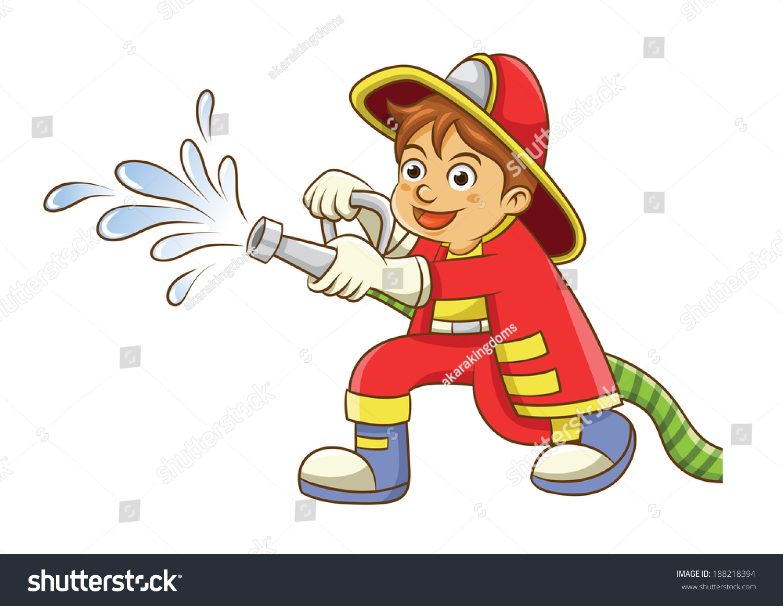 Cute Firefighter Cartoon