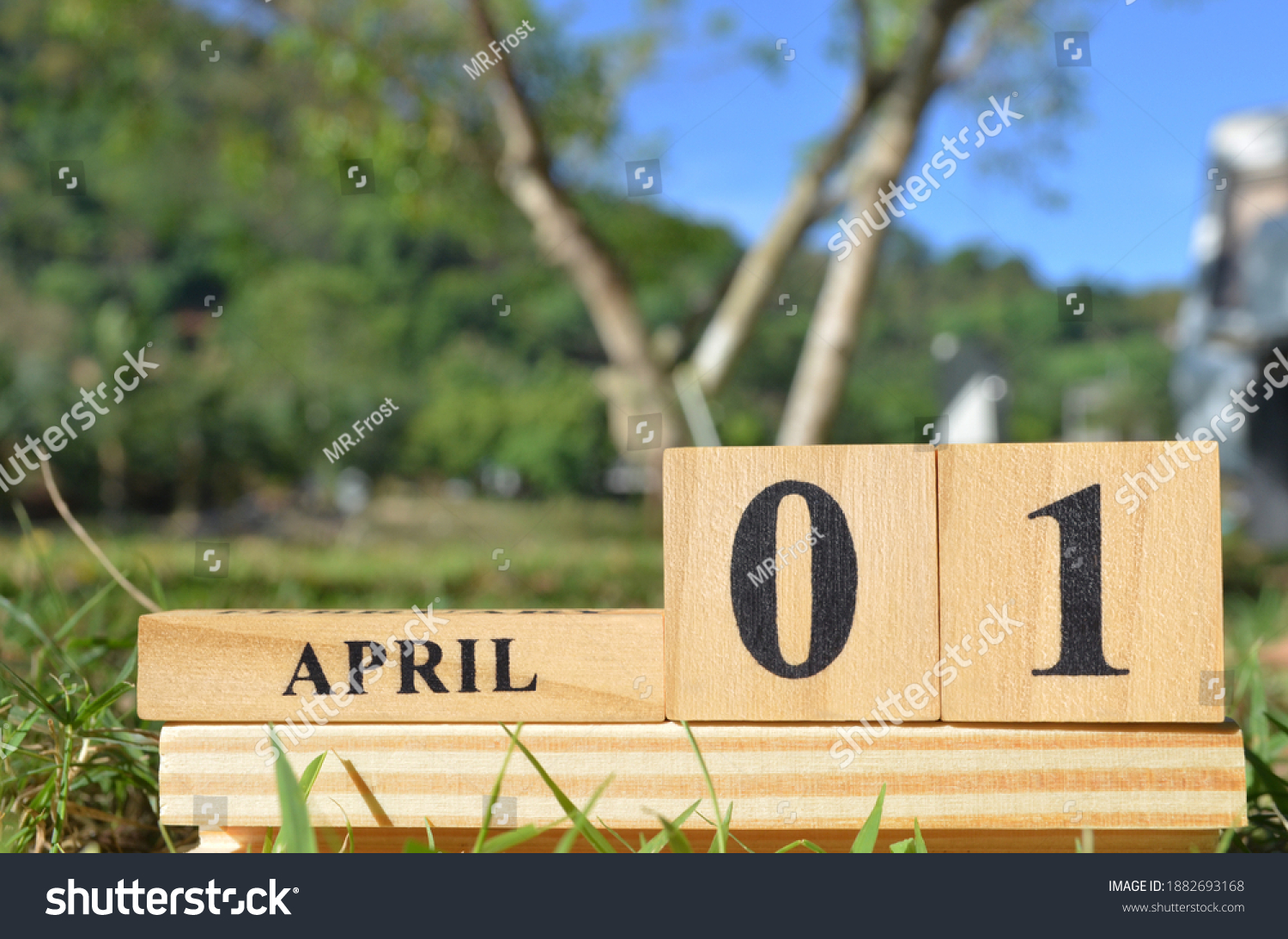 April 1, Cover natural background for your business. #1882693168
