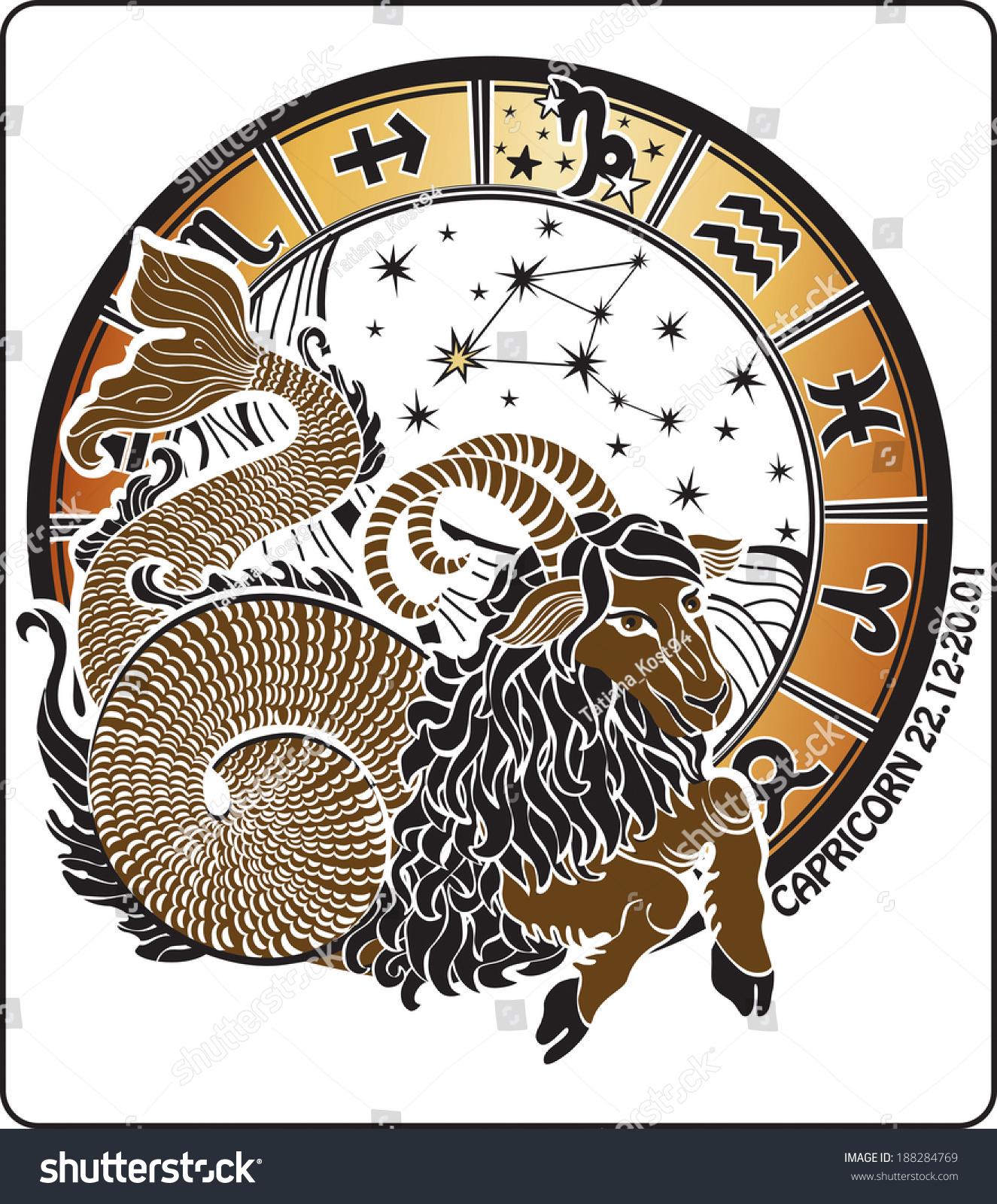 Big Capricorn Symbols All Zodiac Signs Stock Illustration 188284769