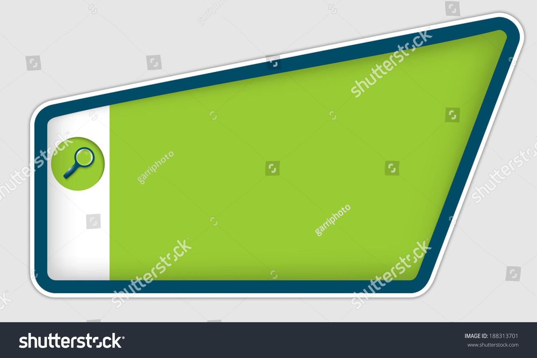 Green Frame Entering Text Magnifier Stock Vector 188313701 ...