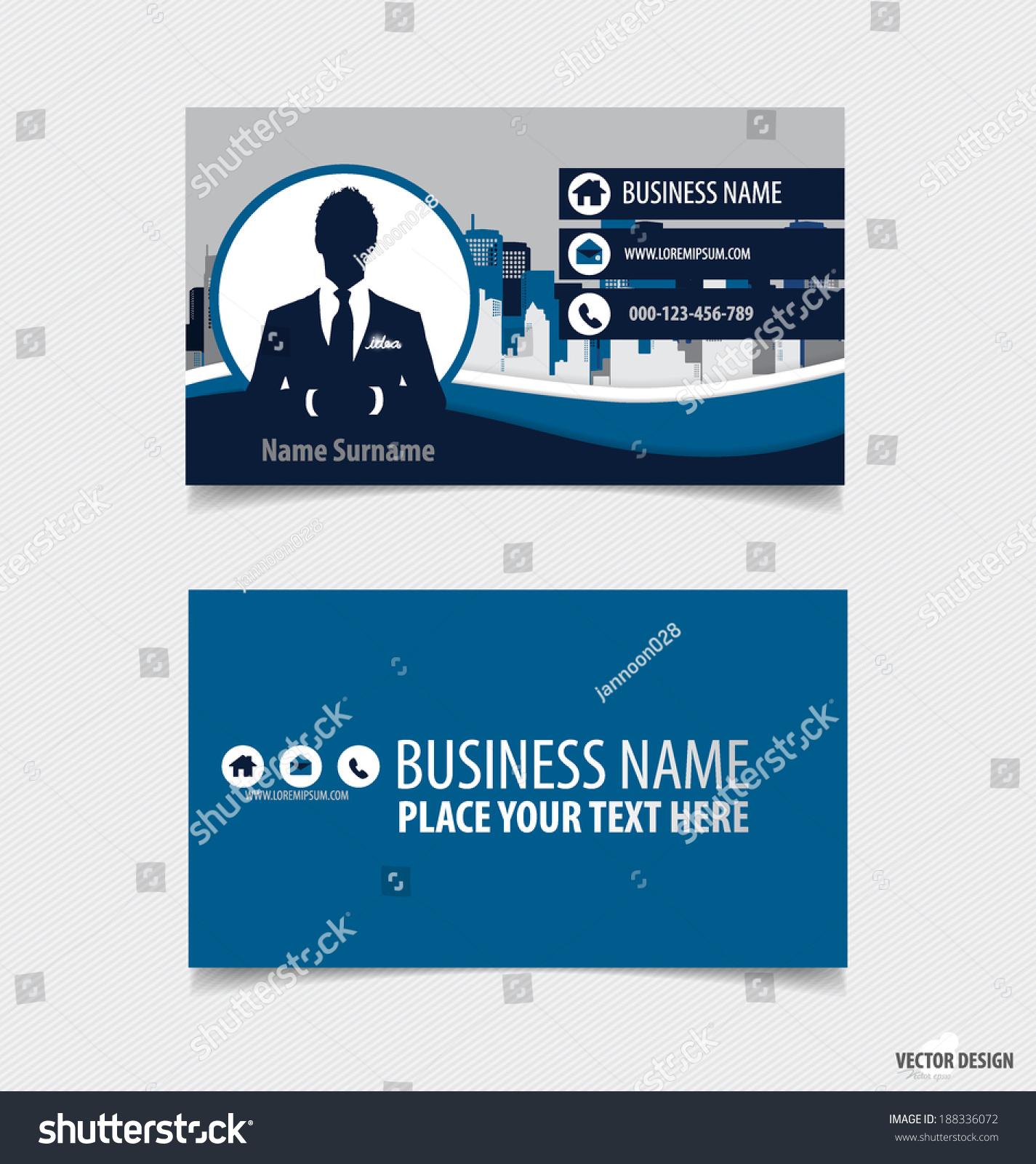 abstract creative business card template vector stock vector