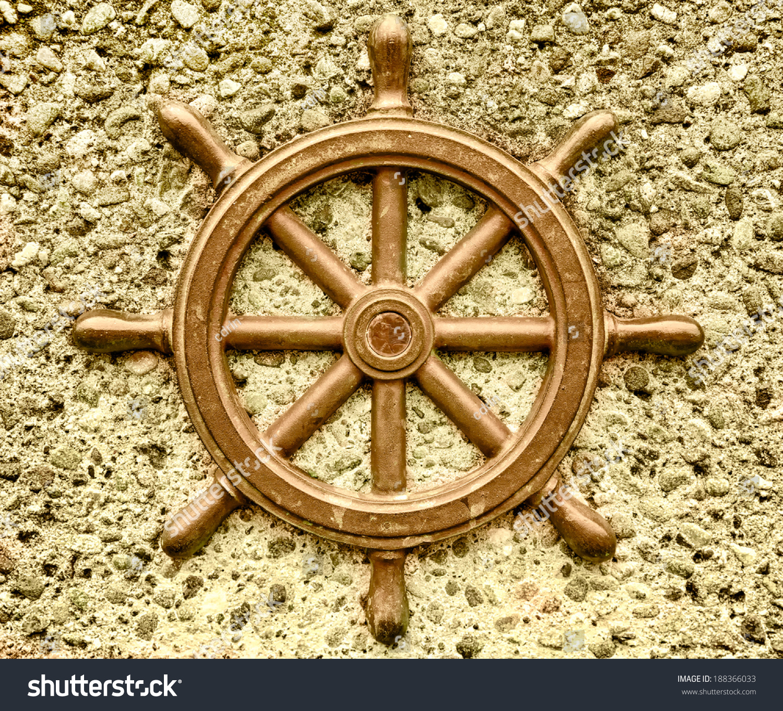 Ship Wheel Nautical Decorative Medallion On Stock Photo (Safe to Use ...