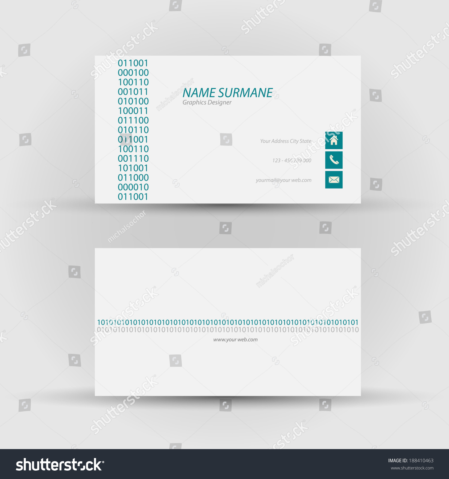 Set modern vector business card template stock vector royalty free set of modern vector business card template front and back side colourmoves