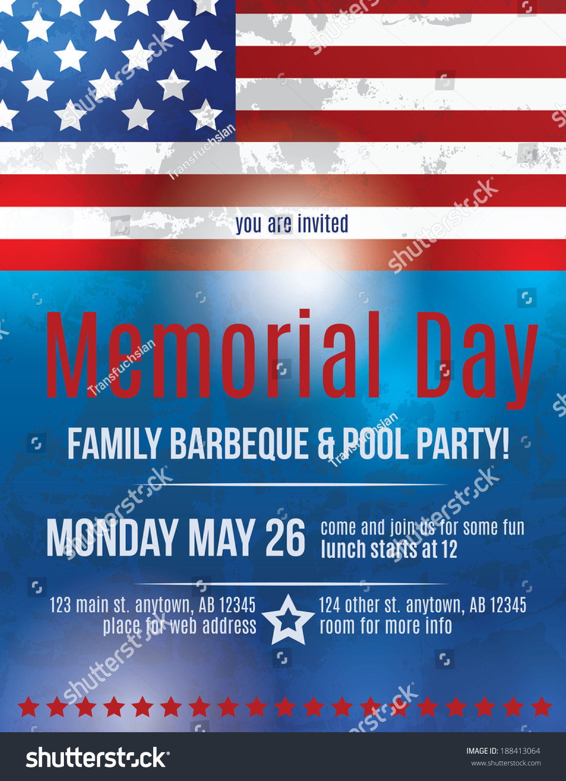 memorial day barbeque flyer background template with. Black Bedroom Furniture Sets. Home Design Ideas