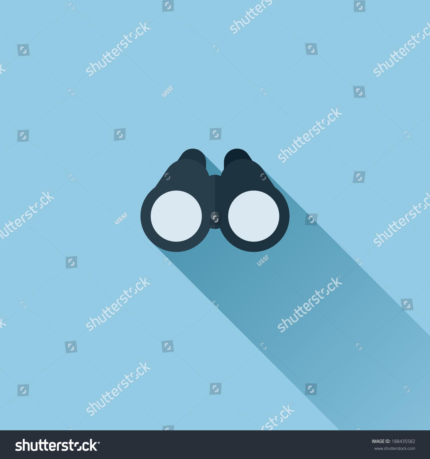 binoculars icon flat - photo #21