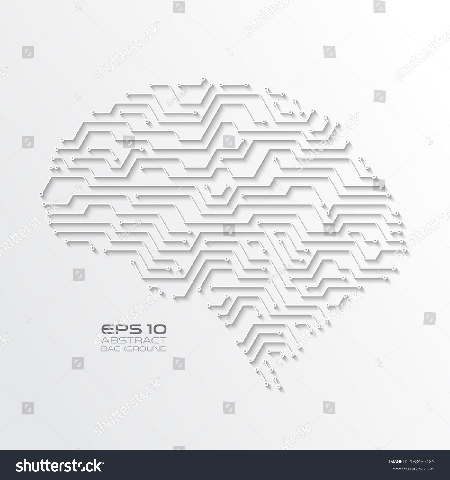 High Tech Background Circuit Board Drawing Stock Vector (2018 ...
