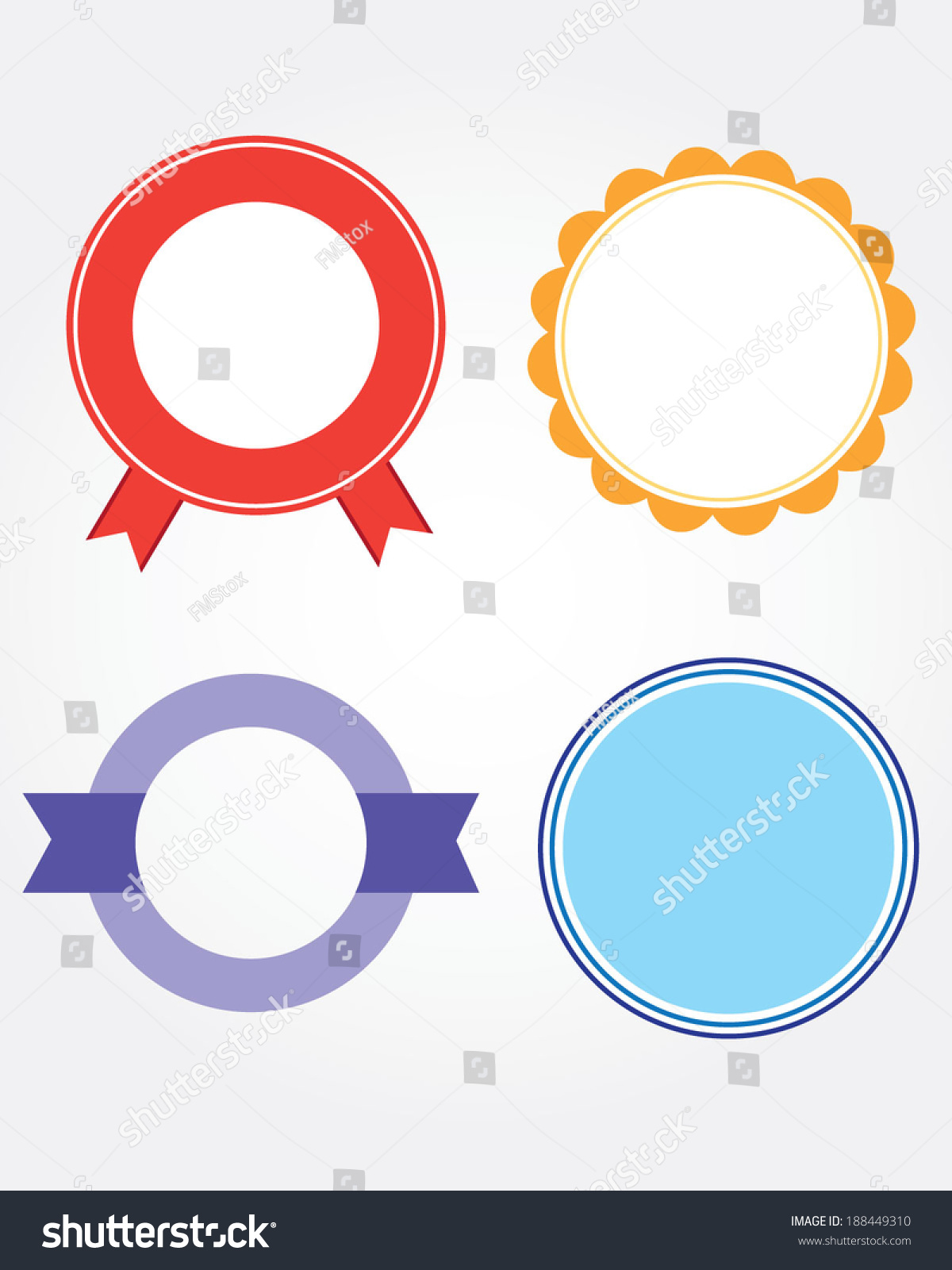Vector Seal Frame Attention Grabber Set Stock Vector