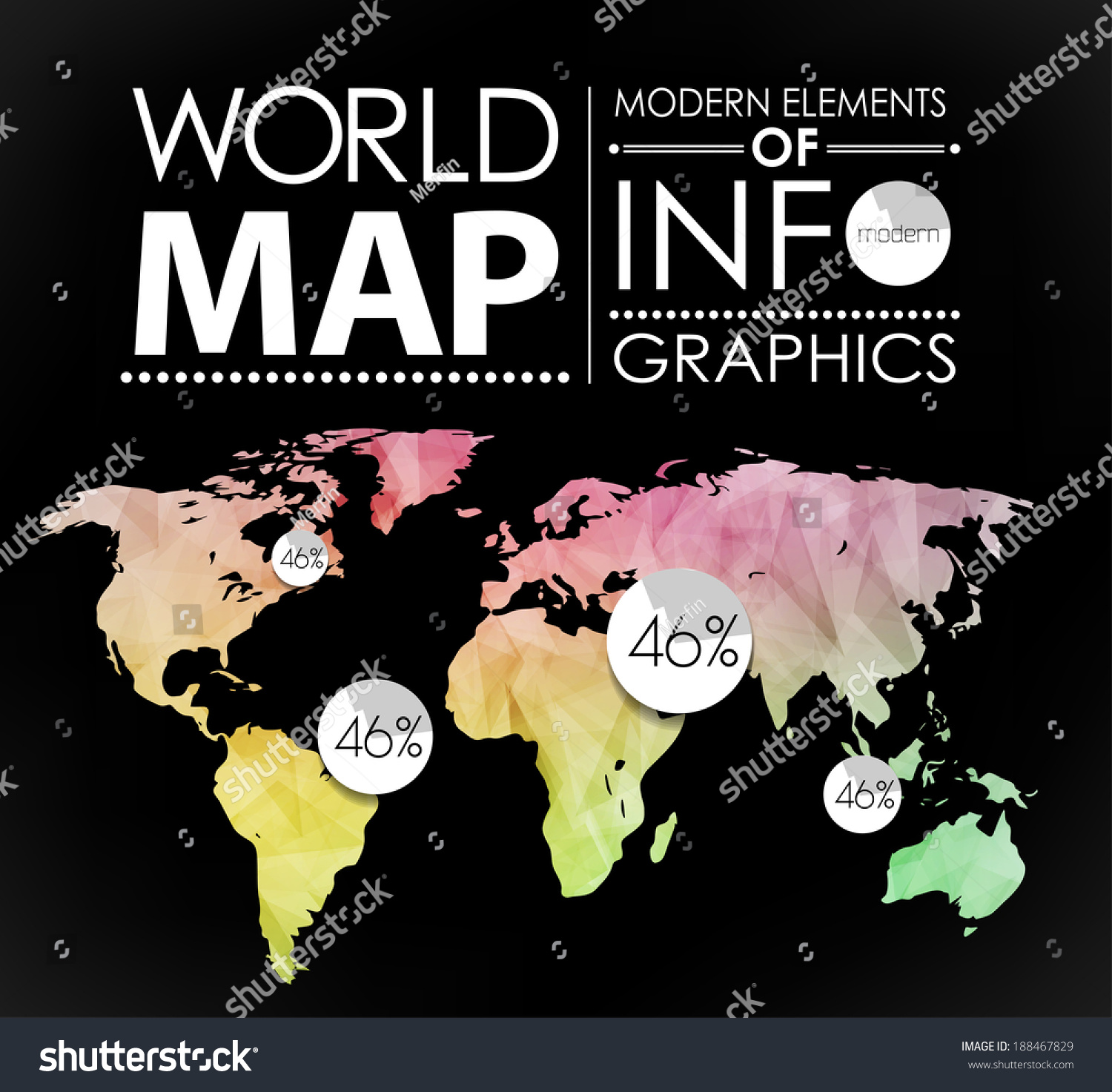 Polygonal world map card modern geometrical stock vector 2018 polygonal world map card modern geometrical elements of info graphics world map typography gumiabroncs Image collections
