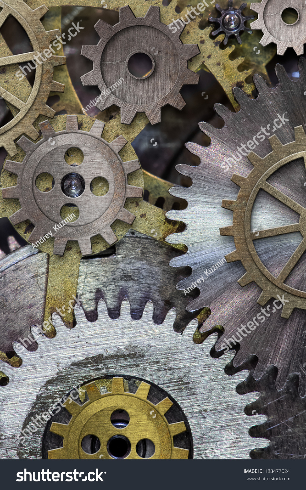 Clock Gears Cogs Background Stock Photo 188477024 ...