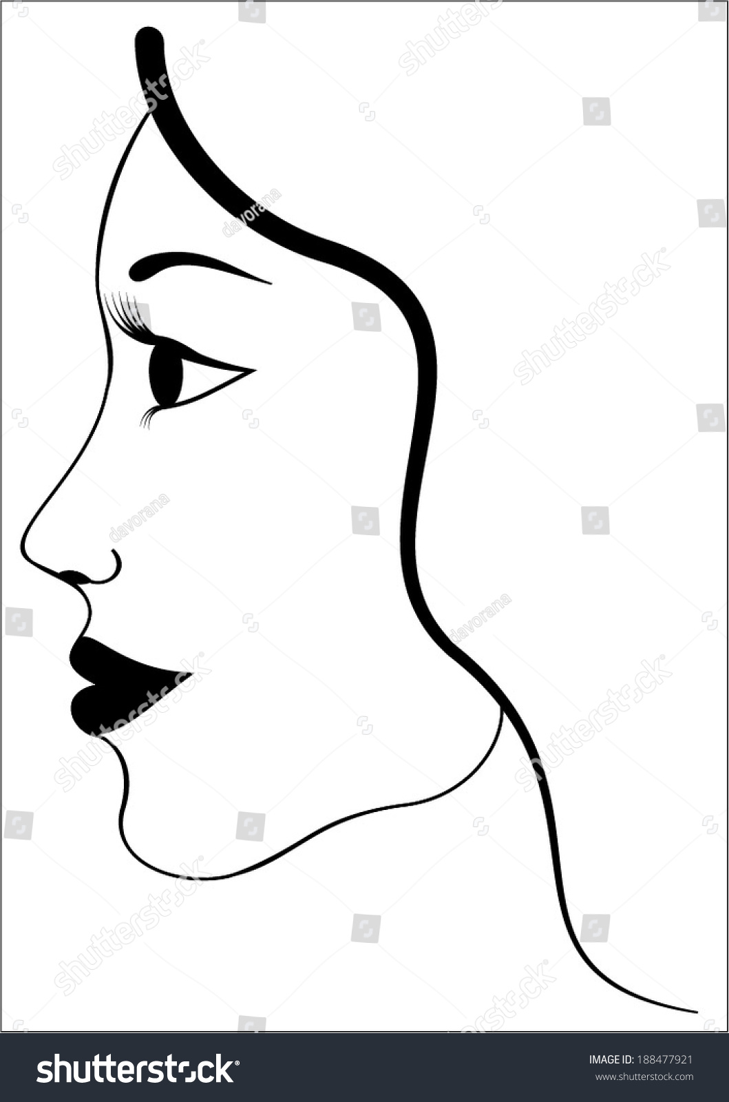 Simple Abstract Beauty Woman Head