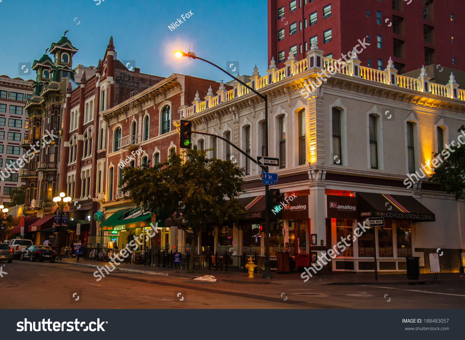San Diego Ca May 30 Nightlife Stock Photo 188483057 ...