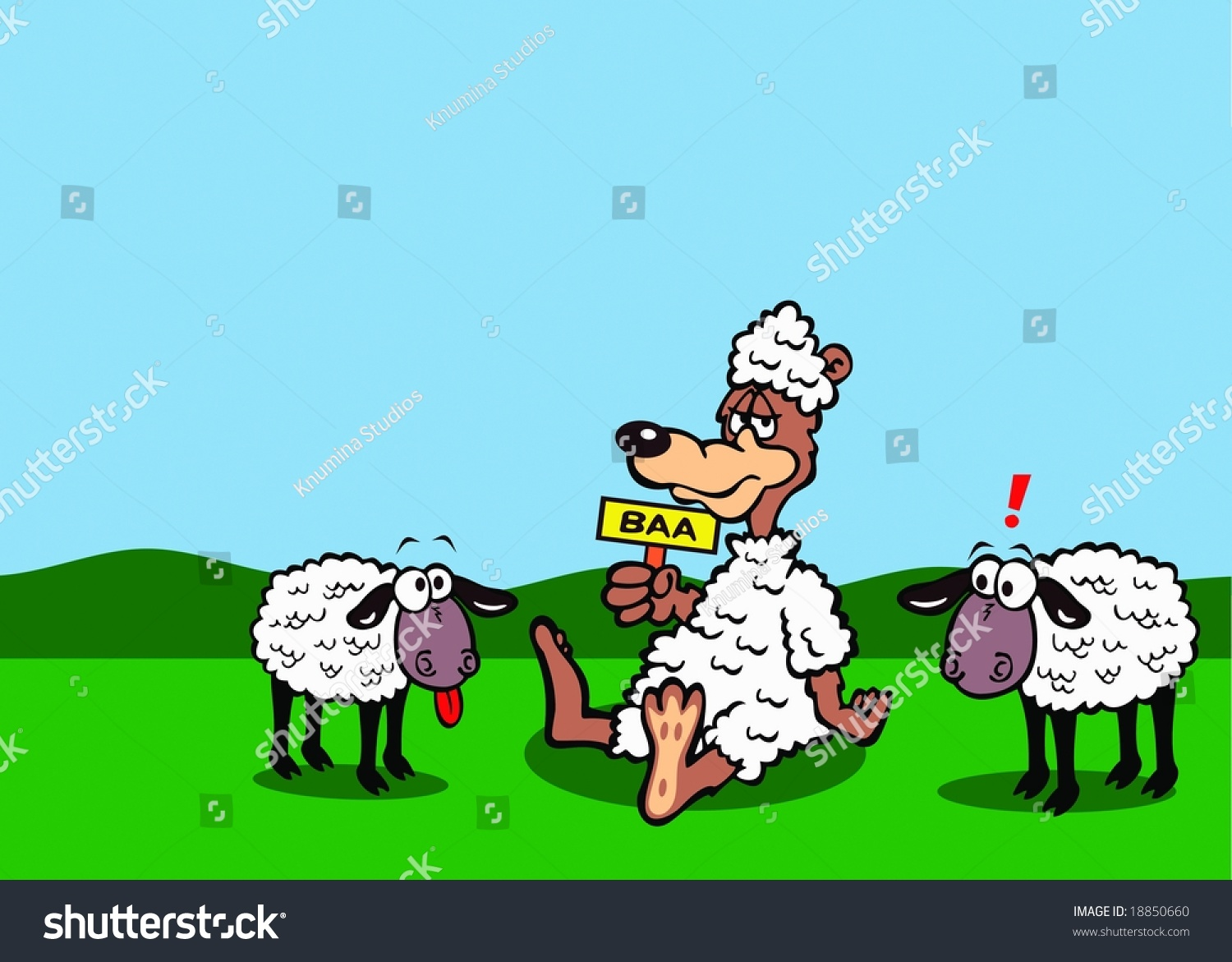 illustration wolf sheeps clothing stock illustration