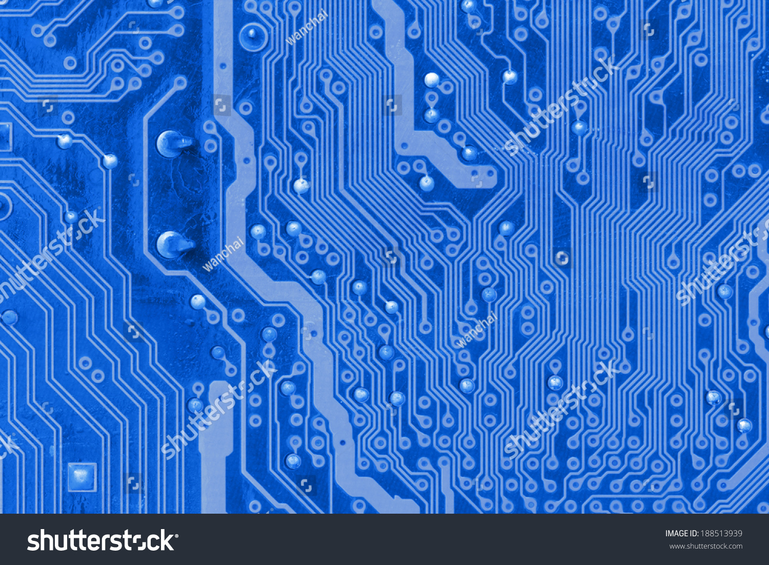 Close Old Blue Circuit Board Background Stock Photo Edit Now Up Of For