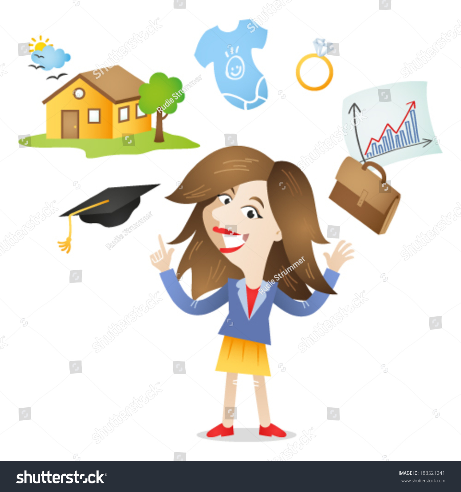 Vector Illustration Cartoon Character Young Adult Stock Vector Royalty Free 188521241