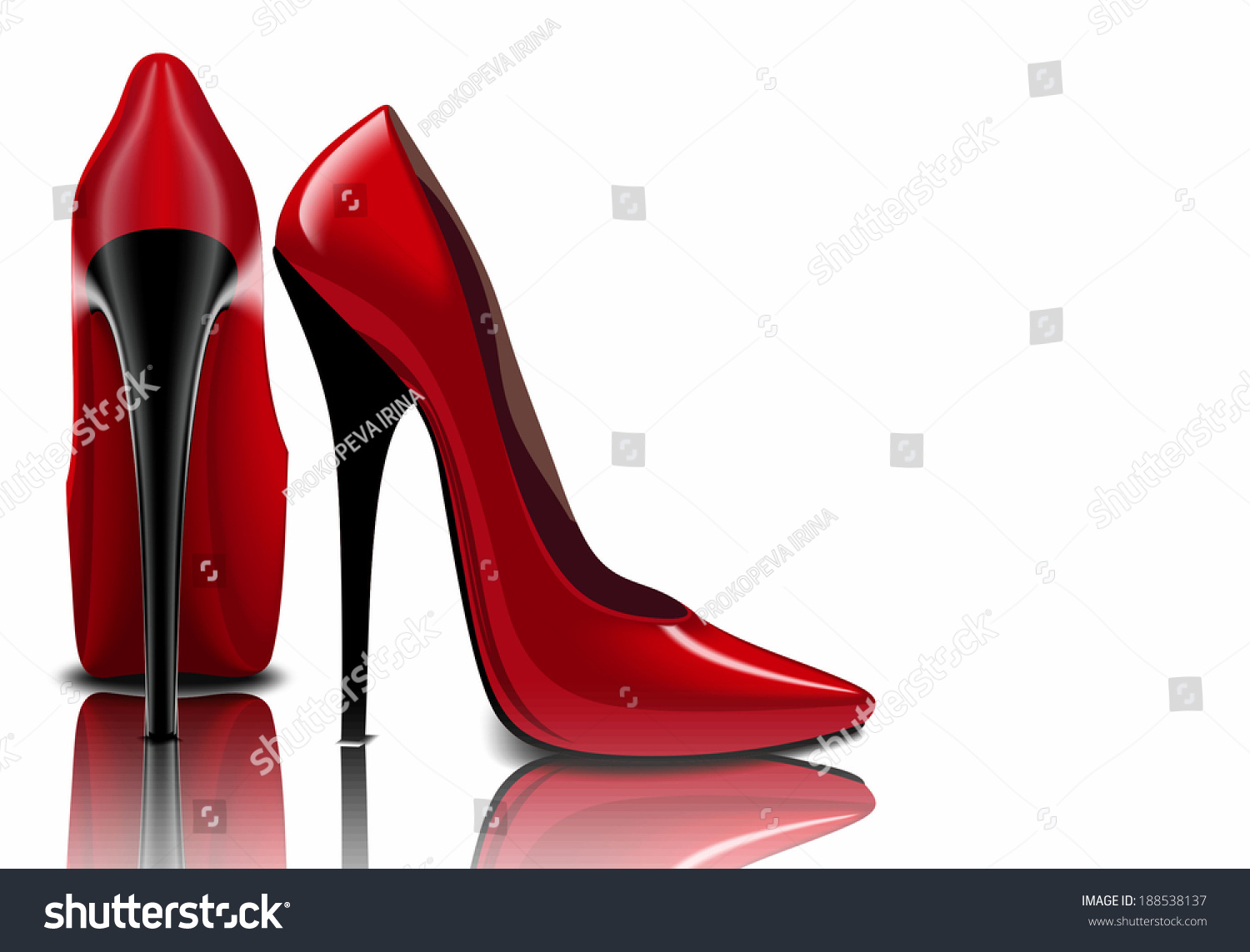 Red Shoes Womens Sharp Nose Stock Illustration 188538137 ...