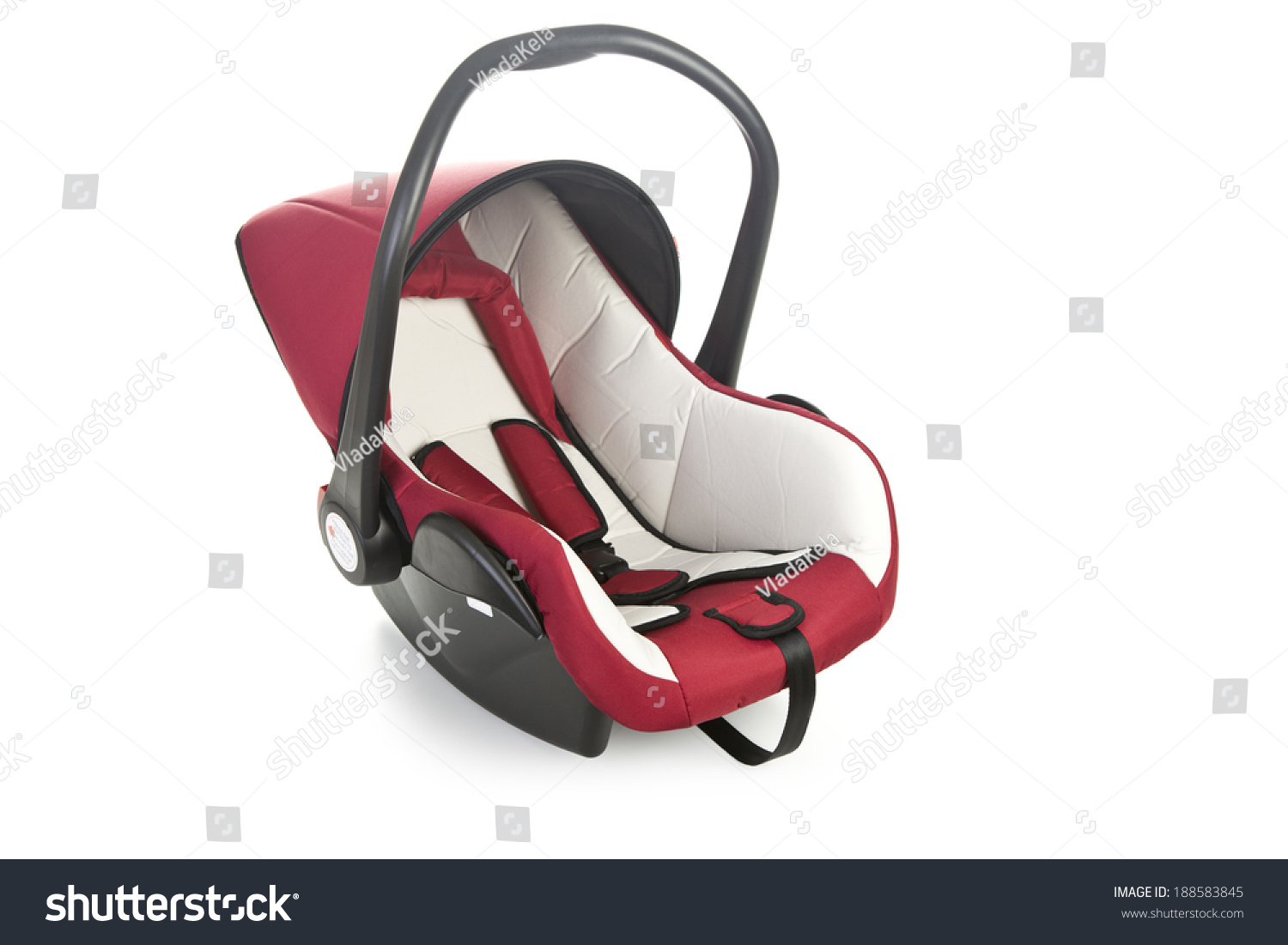 baby car seat isolated on white stock photo 188583845 shutterstock. Black Bedroom Furniture Sets. Home Design Ideas