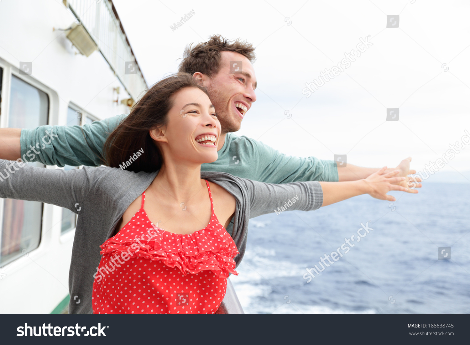 Romantic Couple Having Fun Laughing In Funny Pose On