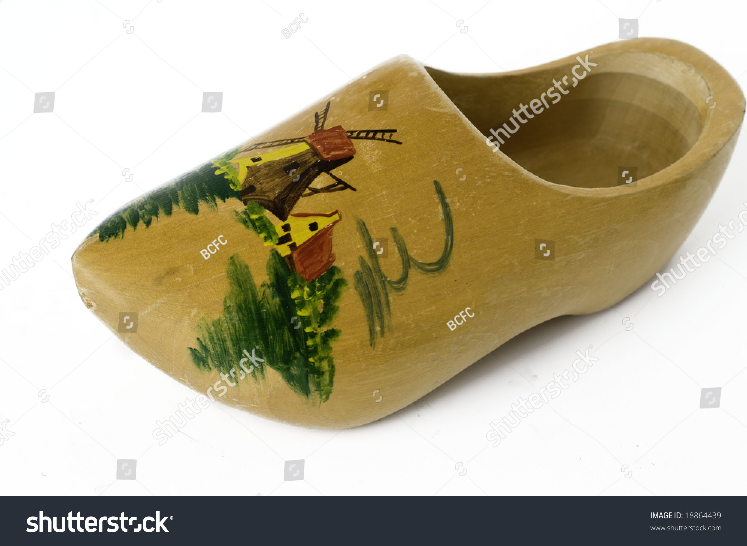 old fashioned dutch clog shoe stock photo 18864439 shutterstock