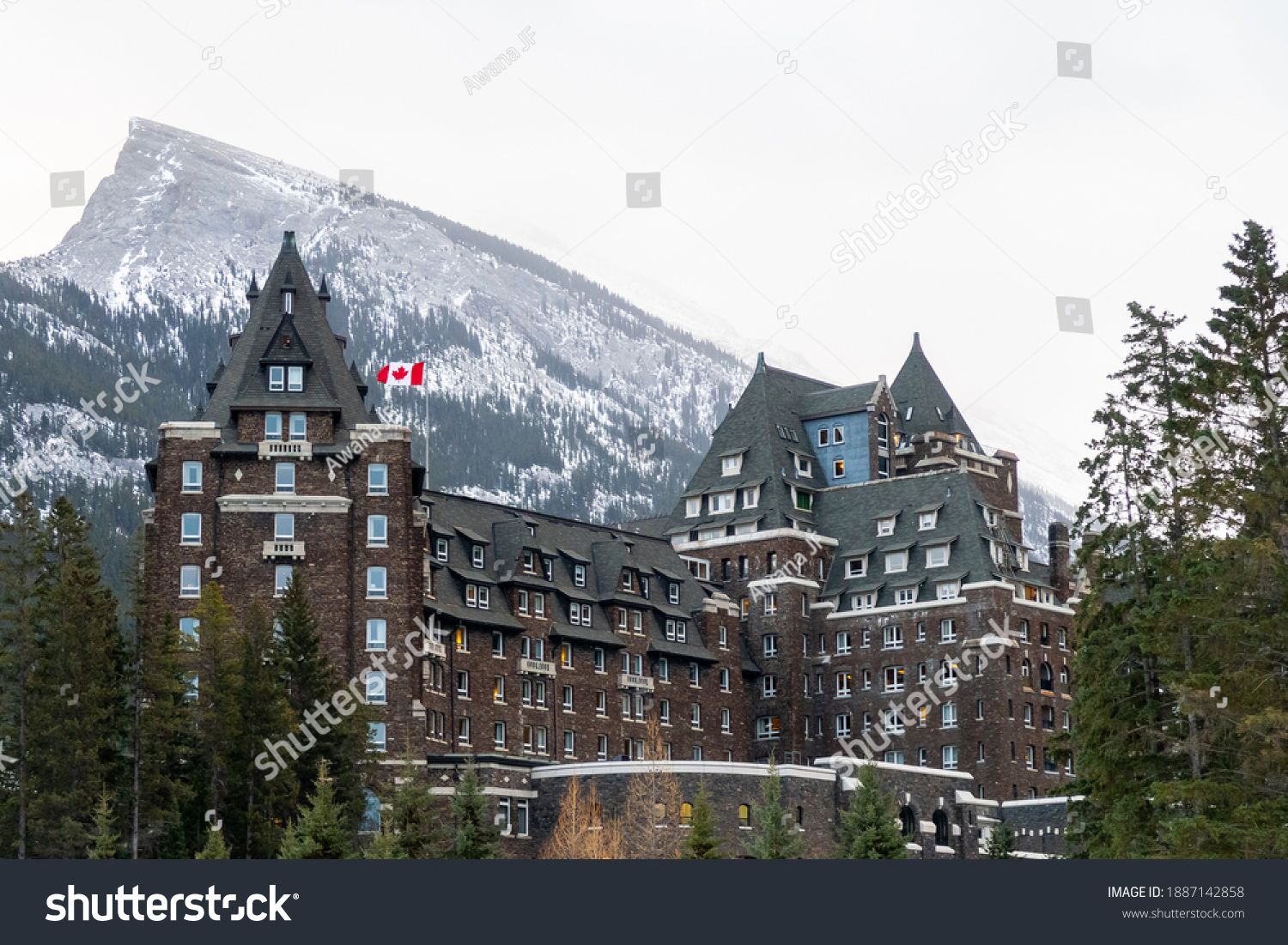 stock-photo-banff-canada-december-view-o