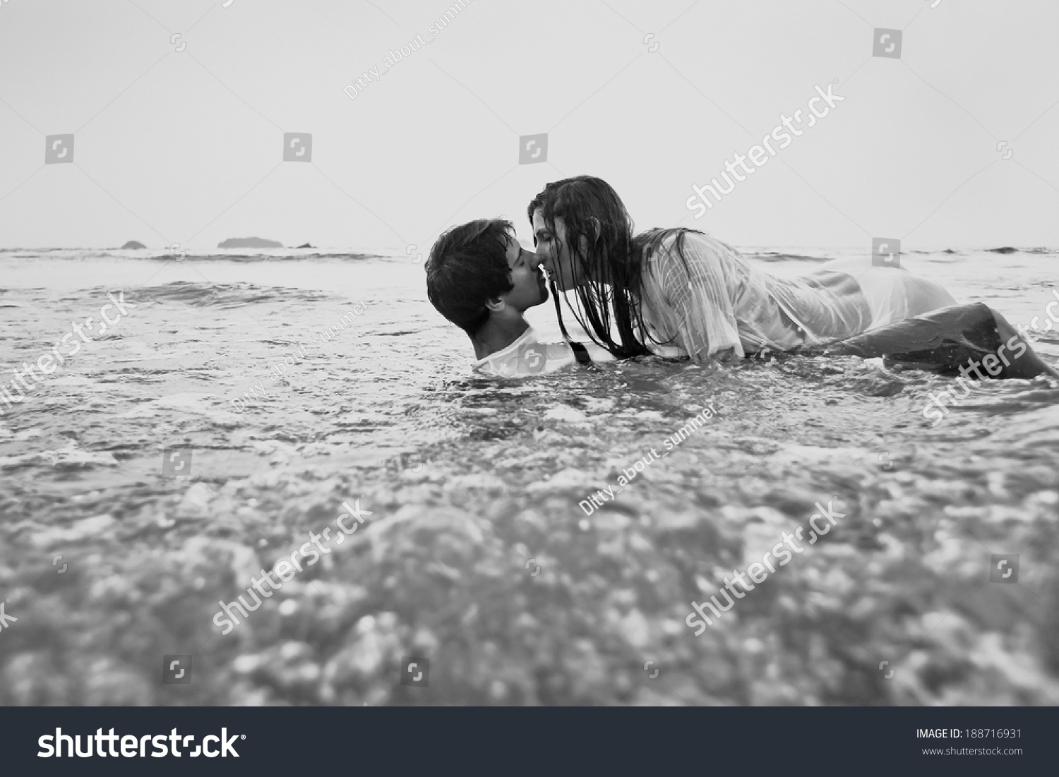 Beach Sexx sex on beach young couple kissing stock photo (edit now