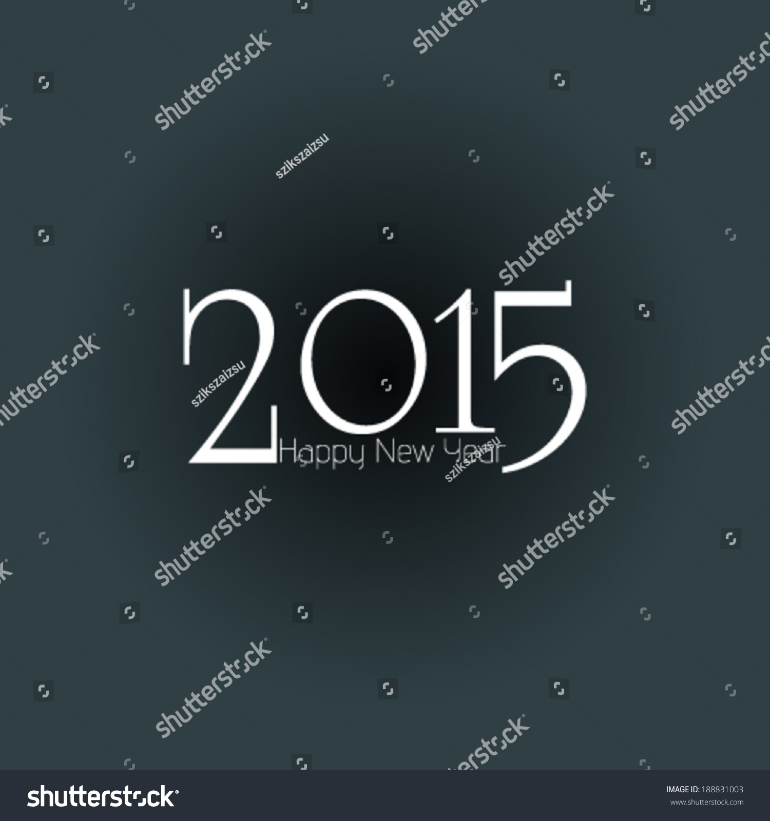Happy New Year 2015 Greeting Card Design Ez Canvas