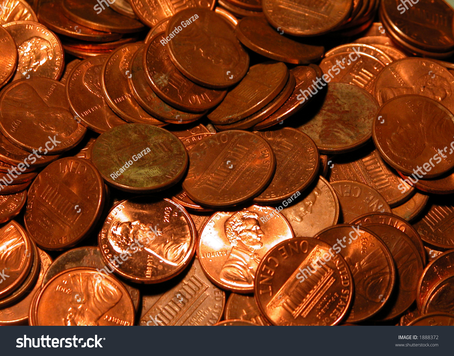 how to clean a bunch of pennies