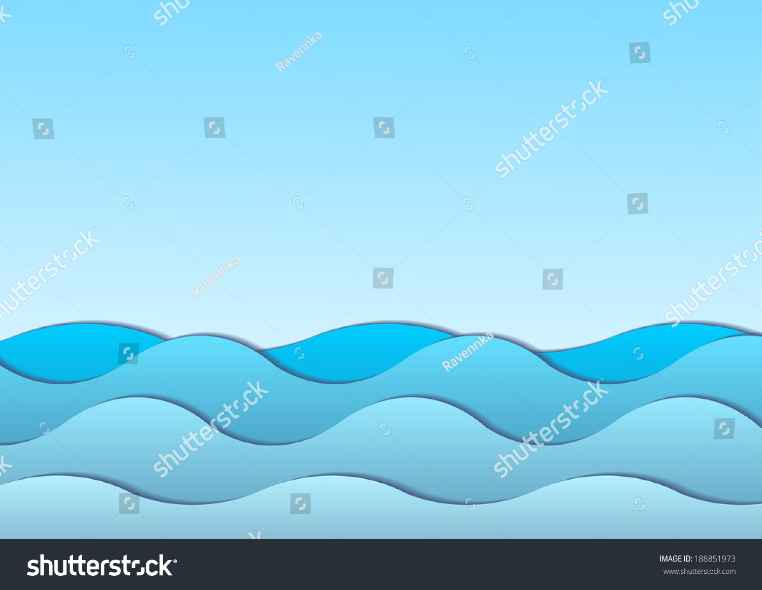 illustration wavy sea ocean water free stock vector 188851973