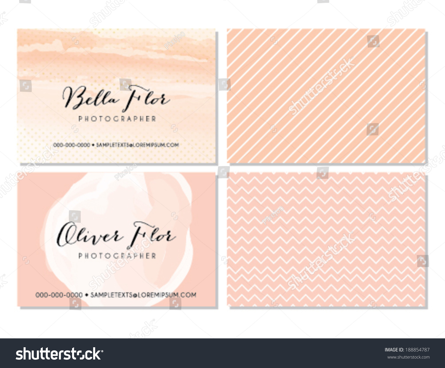 Pink business card template stock vector hd royalty free 188854787 pink business card template wajeb Images