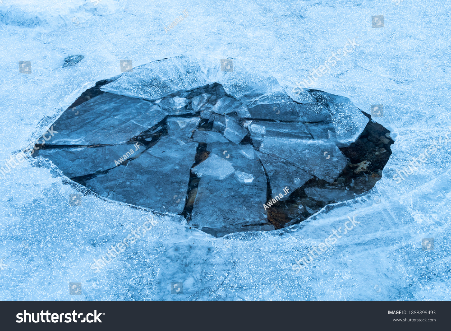 stock-photo-view-of-a-hole-in-a-frozen-l