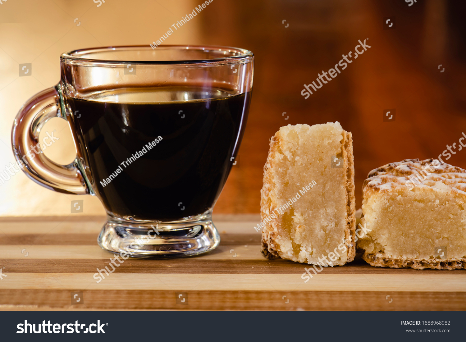 stock-photo-cup-of-coffee-next-to-marzip