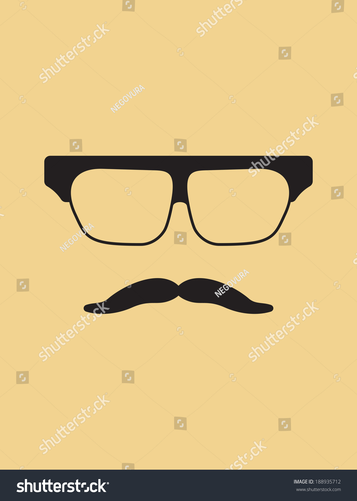 Hipster Glasses Template