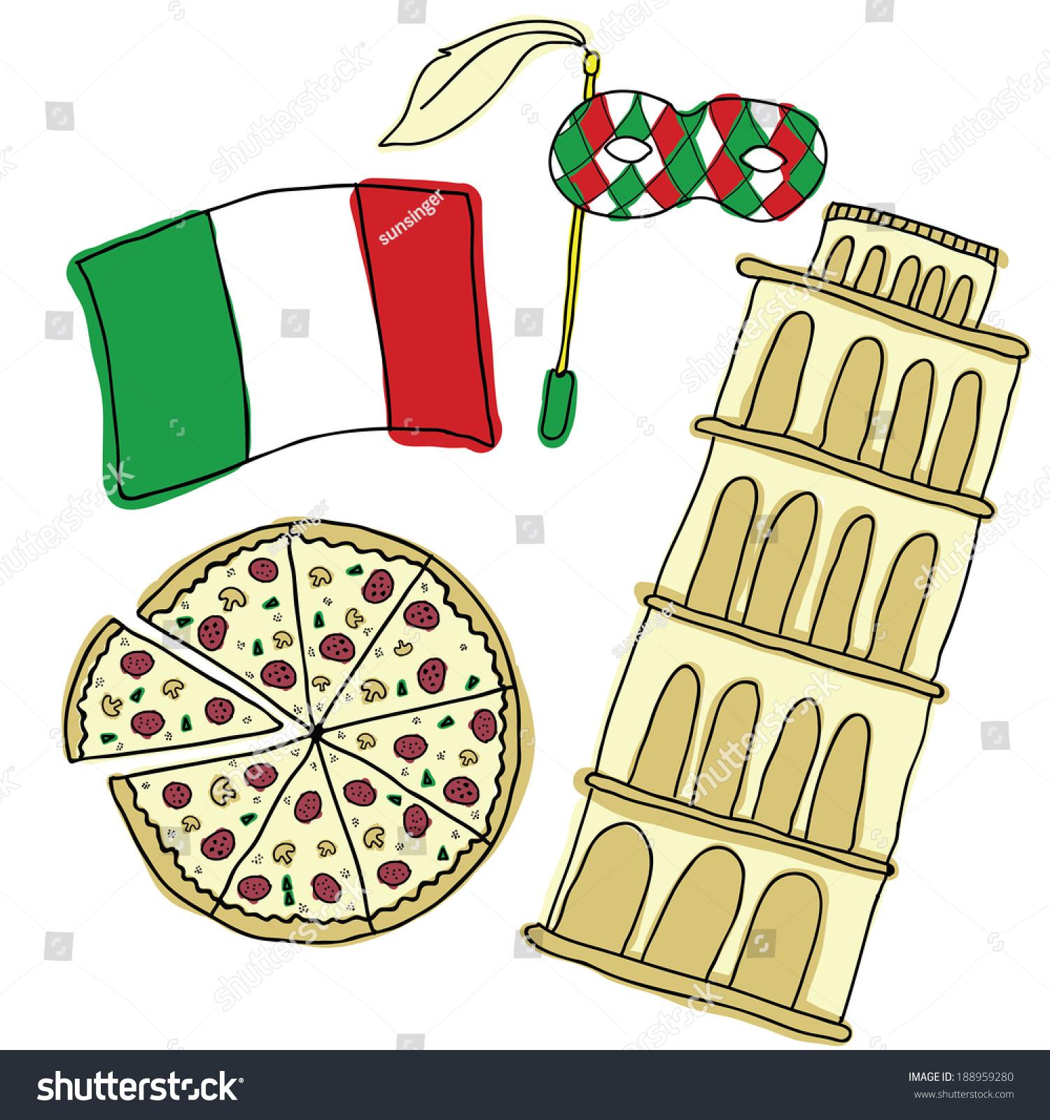 Vector Symbols Italy Stock Vector 2018 188959280 Shutterstock