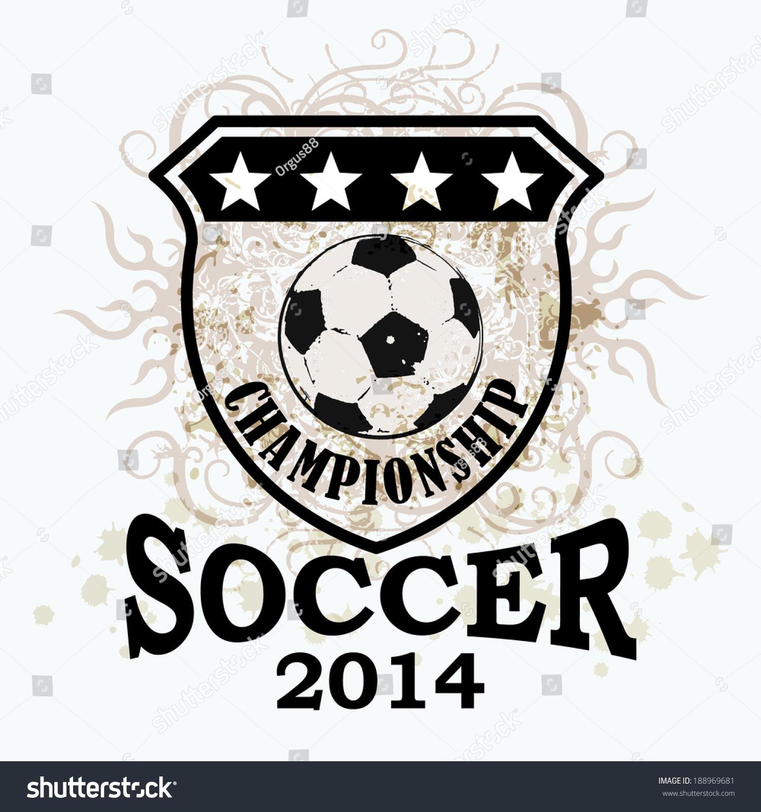 Design t shirt soccer - Vector Grunge Soccer Ball T Shirt Poster Banner Backdrops Design