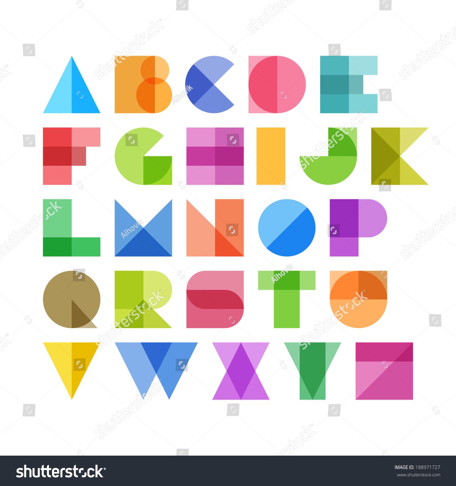 Image Gallery Letter Shapes