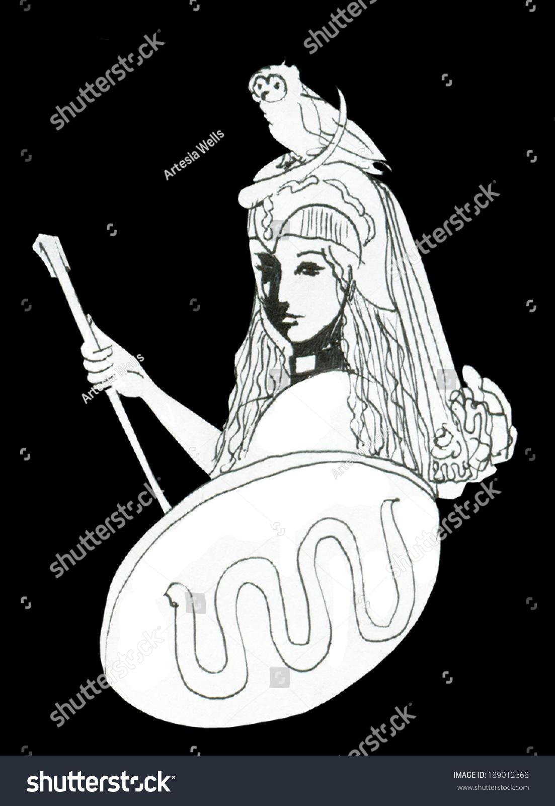 Pallas athena goddess symbol wisdom intellect stock illustration pallas athena goddess symbol of wisdom intellect creativity and strength for example biocorpaavc Images