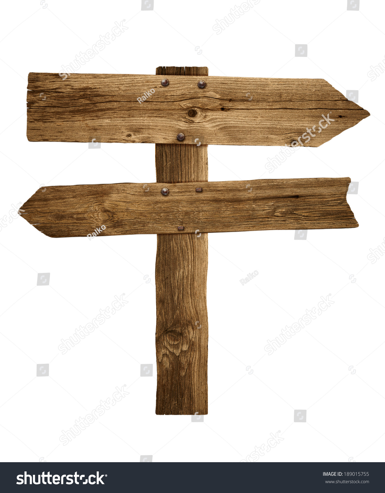 Wooden sign board old post panel stock photo